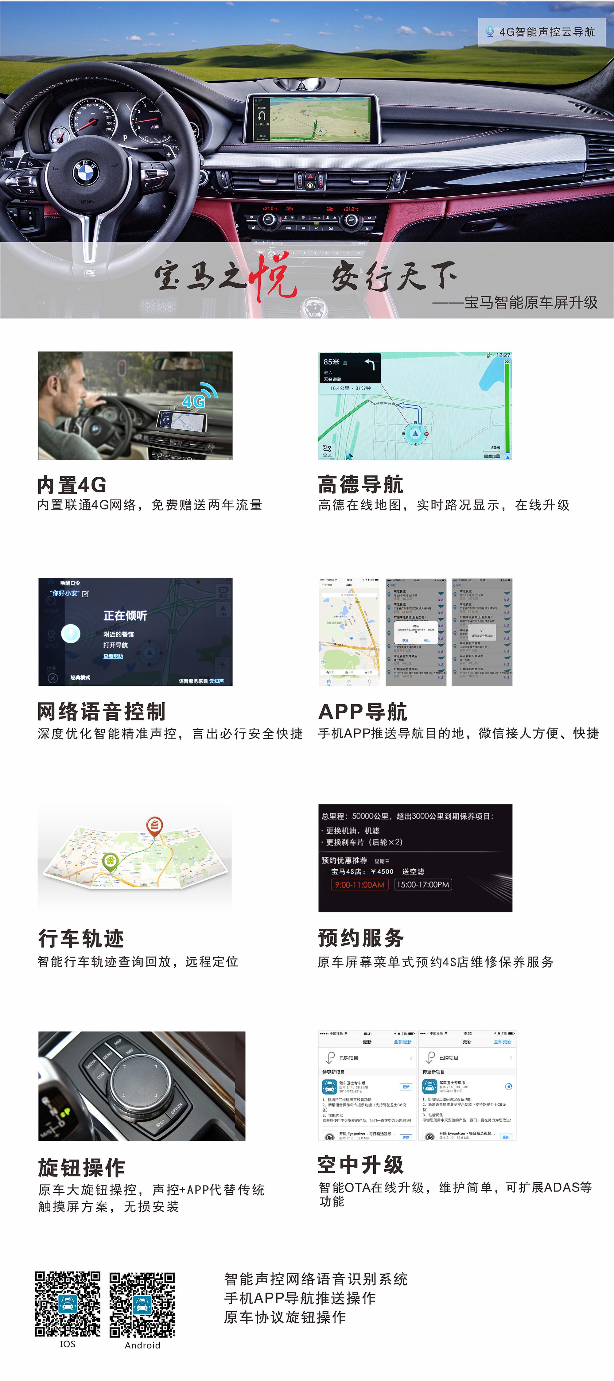 宝马4G智能声控云导航