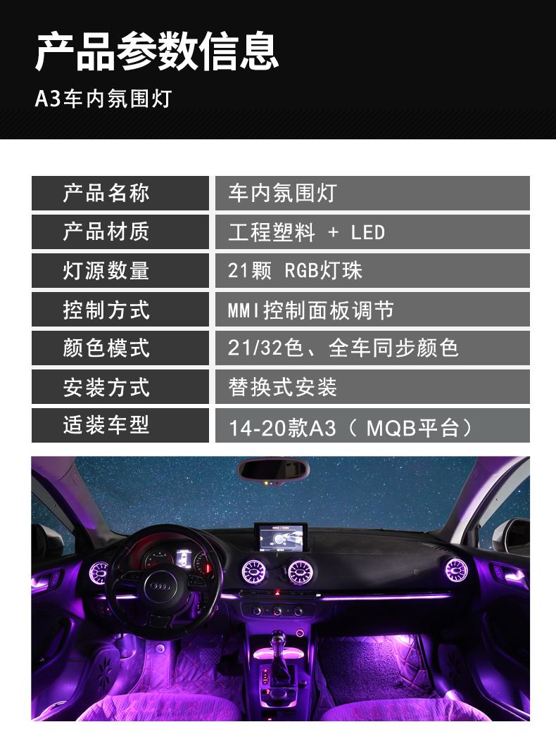 16氛围灯产品参数信息