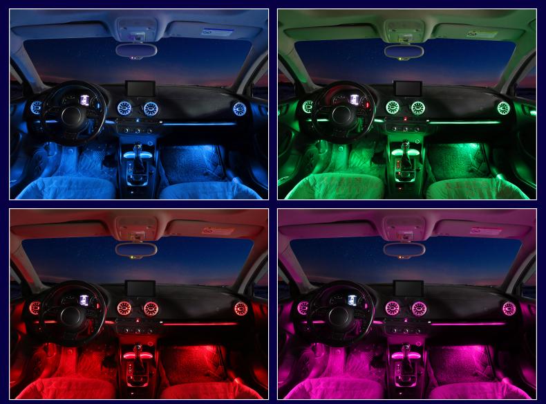A3 车内氛围灯&发光涡轮出风